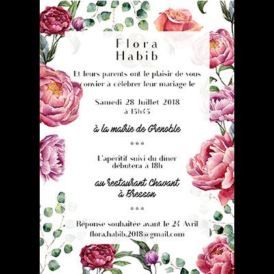 wedding flyer verso