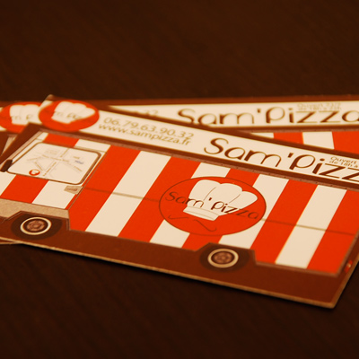 Carte De Visite Flyer Verso Menu Pizza