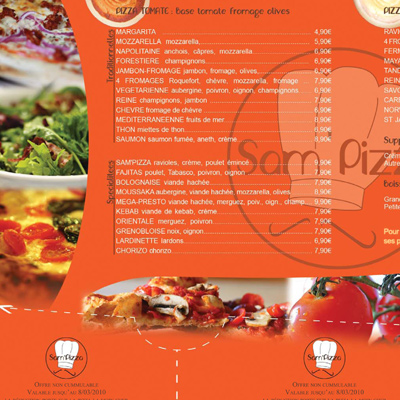 verso menu pizza